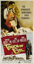 """Movie Posters:Film Noir, Touch Of Evil (Universal International, 1958). Three Sheet (41"""" X81""""). Orson Welles' brilliant direction made this borderto..."""