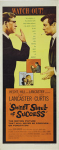 "Movie Posters:Drama, Sweet Smell of Success (United Artists, 1957). Insert (14"" X 36"").Burt Lancaster as Hunsecker and Tony Curtis as Falco both..."