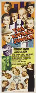 "Movie Posters:Film Noir, Asphalt Jungle (MGM, 1950). Insert (14"" X 36""). John Huston wasnominated as Best Director for this great caper film featuri..."