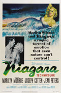 "Movie Posters:Drama, Niagara (20th Century Fox, 1953). One Sheet (27"" X 41""). MarilynMonroe and Joseph Cotton star in this film noir thriller. W..."