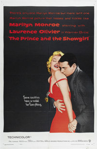"""The Prince and the Showgirl (Warner Brothers, 1957). One Sheet (27"""" X 41""""). Laurence Olivier and Marilyn Monro..."""