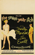 """Movie Posters:Comedy, The Seven Year Itch (20th Century Fox, 1955). Window Card (14"""" X22""""). This wonderful window card presents the image of Mari..."""