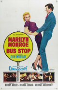 "Movie Posters:Drama, Bus Stop (20th Century Fox, 1956). One Sheet (27"" X 41""). DonMurray stars as a cowboy who falls for a cafe singer Marilyn M..."