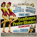 "Movie Posters:Musical, Gentlemen Prefer Blondes (20th Century Fox, 1953). Six Sheet (81"" X81""). Lorelei Lee and Dorothy Shaw (Marilyn Monroe and J..."