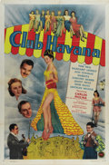 "Movie Posters:Mystery, Club Havana (PRC, 1945). One Sheet (27"" X 41""). The titular club inEdgar G. Ulmer's film is a popular night spot where six ..."
