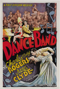 "Dance Band (First Division, 1935). One Sheet (27"" X 41""). Rival dancers vow to beat each other in a big contes..."
