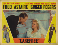 "Carefree (RKO, 1938). Lobby Cards (3) (11"" X 14""). While comedy is emphasized over music in this last ""ty..."
