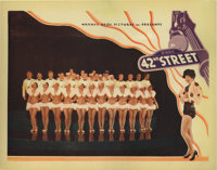 """42nd Street (Warner Brothers, 1933). Lobby Card (11"""" X 14""""). This lobby card has had the right edge trimmed, a..."""
