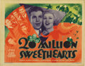 "Movie Posters:Musical, 20 Million Sweethearts (Warner Brothers, 1934). Title Lobby Card(11"" X 14""). Unscrupulous agent Pat O'Brien makes singing w..."
