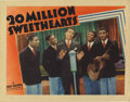 "Movie Posters:Musical, 20 Million Sweethearts (Warner Brothers, 1934). Lobby Card (11"" X14""). In this card, Dick Powell performs a musical number ..."