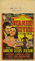 """Movie Posters:Musical, Swanee River (20th Century Fox, 1939). Midget Window Card (8"""" X 14""""). Don Ameche stars in this biopic about the life of comp..."""