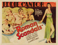 "Movie Posters:Comedy, Roman Scandals (United Artists, 1933). Half Sheet (22"" X 28"").Eddie Cantor stars in another of his classic comedies, this t..."