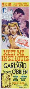 """Movie Posters:Musical, Meet Me in St. Louis (MGM, 1944). Australian Daybill (10"""" X 30""""). Judy Garland, Margaret O'Brien, Mary Astor, Lucille Bremer..."""