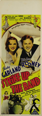 """Strike Up the Band (MGM, 1940). Australian Daybill (15"""" X 40""""). This was the second of the Mickey Rooney &..."""