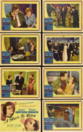 """Movie Posters:Drama, A Star Is Born (United Artists, 1937). Lobby Card Set of 8 (11"""" X14""""). Janet Gaynor, Fredric March, Adolphe Menjou, May Rob...(Total: 8 Items)"""