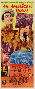 "Movie Posters:Academy Award Winner, An American In Paris (MGM, 1951). Insert (14"" X 36""). Gene Kellystars in one of the truly classic MGM musicals that went on..."