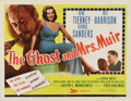 "Movie Posters:Romance, The Ghost and Mrs. Muir (20th Century Fox, 1947). Half Sheet (22"" X28""). In what became one of the most unique love stories..."