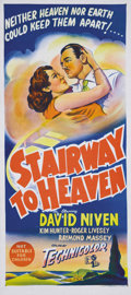 """Movie Posters:Fantasy, Stairway to Heaven (Eagle Lion, Re-Issue Early 1950s). Australian Daybill (13"""" X 30""""). This British fantasy stars David Nive..."""