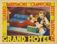 "Grand Hotel (MGM, 1932). Lobby Card (11"" X 14""). Joan Crawford seems to be plotting something mischievous in t..."
