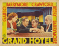 "Movie Posters:Drama, Grand Hotel (MGM, 1932). Lobby Card (11"" X 14""). John Barrymore andLionel Barrymore appear together in this lobby card, sit..."