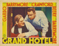"Movie Posters:Drama, Grand Hotel (MGM, 1932). Lobby Card (11"" X 14""). This lobby card shows the relationship of Wallace Beery's and Lionel Barrym..."