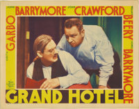 "Grand Hotel (MGM, 1932). Lobby Card (11"" X 14""). This lobby card shows the relationship of Wallace Beery's and..."