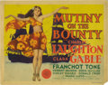 "Movie Posters:Drama, Mutiny On The Bounty (MGM, 1935). Title Lobby Card (11"" X 14"").Starring Charles Laughton, Clark Gable and Franchot Tone, th..."