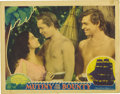 "Movie Posters:Drama, Mutiny On The Bounty (MGM, 1935). Lobby Cards (2) (11"" X 14"").These lobby cards have pinholes, light stains, and small corn...(Total: 2 Items)"