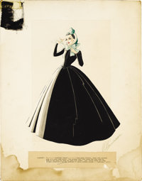 """Gone With the Wind (MGM, 1939). Original Costume Sketch (18"""" X 23""""). The wardrobe department produced 450 cost..."""