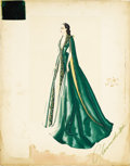 "Movie Posters:Academy Award Winner, Gone With the Wind (MGM, 1939) Original Costume Sketch (18"" X 23"").586 FADE IN: INT. SCARLETT'S BEDROOM - NIGHT - (ABOUT ..."