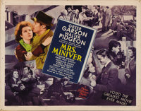 """Mrs. Miniver (MGM, 1942). Half Sheet (22"""" X 28""""). William Wyler's production featured a wonderful ensemble cas..."""