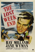 "Movie Posters:Drama, The Lost Weekend (Paramount, 1945). One Sheet (27"" X 41""). Postersfor this Ray Milland / Billy Wilder film are scarce and t..."