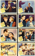 "Movie Posters:Comedy, Fugitive Lovers (MGM, 1934). Lobby Card Set of 8 (11"" X 14"").Escaped prisoner Robert Montgomery is on the run from the law ...(Total: 8 Items)"