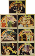 "Movie Posters:Drama, If I Were Free (RKO, 1933). Title Lobby Card and Lobby Cards (6)(11"" X 14""). This melodrama centers around a man and woman ...(Total: 7 Items)"