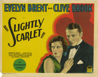 """Slightly Scarlet (Paramount, 1930) Title Card and Lobby Cards (6) (11"""" X 14""""). This early talkie crime comedy/..."""