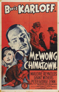 "Movie Posters:Mystery, Mr. Wong in Chinatown (Monogram, 1939). One Sheet (27"" X 41""). Apretty Chinese woman (Lotus Long), seeking help from San Fr..."