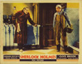 "Movie Posters:Mystery, Sherlock Holmes (Fox, 1932). Lobby Card (11"" X 14""). Another greatand rare card from this early entry in the Sherlock Holme..."