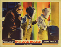 "Sherlock Holmes (Fox, 1932). Lobby Cards (2) (11"" X 14""). These two cards featuring Professor Moriarty (Ernest..."