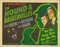 "Movie Posters:Mystery, The Hound Of The Baskervilles (20th Century Fox, 1939). Title LobbyCard (11"" X 14""). Sir Arthur Conan Doyle's Sherlock Holm..."
