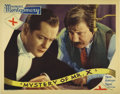"""Mystery of Mr. X (MGM, 1934). Lobby Cards (5) (11"""" X 14""""). Robert Montgomery is a well dressed jewel thief in..."""