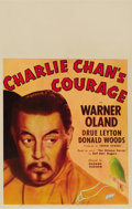 "Movie Posters:Mystery, Charlie Chan's Courage (Fox, 1934). Window Card (14"" X 22""). EarlDerr Biggers' Chinese detective Charlie Chan made another ..."