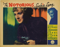 "The Notorious Sophie Lang (Paramount, 1934). Lobby Cards (5) (11"" X 14""). Gertrude Michael plays a glamorous j..."