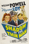 "Movie Posters:Mystery, Shadow of the Thin Man (MGM, 1941). One Sheet (27"" X 41""). William Powell and Myrna Loy were reunited for the fourth install..."