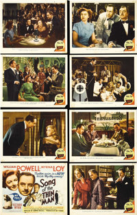 "Song of the Thin Man (MGM, 1947). Lobby Card Set of 8 (11"" X 14""). Nice set of lobby cards for the last entry..."