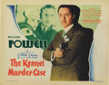 "Movie Posters:Mystery, The Kennel Murder Case (Warner Brothers, 1933). Title Lobby Card(11"" X 14""). William Powell stars in his fourth and final o..."