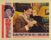 "Lawyer Man (Warner Brothers, 1933). Lobby Cards (2) (11"" X 14"").This film represents one of William Powell's f..."