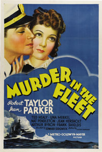 """Murder in the Fleet (MGM, 1935). One Sheet (27"""" X 41""""). This was Robert Taylor's first starring feature. Filme..."""