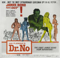 "Movie Posters:Action, Dr. No (United Artists, 1962). Six Sheet (81"" X 81""). Sean Connery would establish the iconic spy in this picture that also ..."
