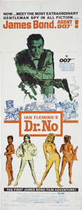 "Movie Posters:Action, Dr. No (United Artists, 1962). Insert (14"" X 36""). Sean Connerystars in the first Bond film. There is some wear along fold ..."