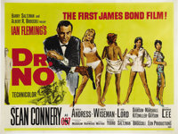 "Dr. No (United Artists, 1962). British Quad (30"" X 40""). Agent 007 made his big screen debut in this 1962 hit..."